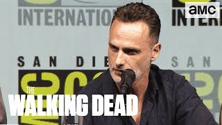the walking dead andrew lincoln on his final season comic con 2018 panel highlights