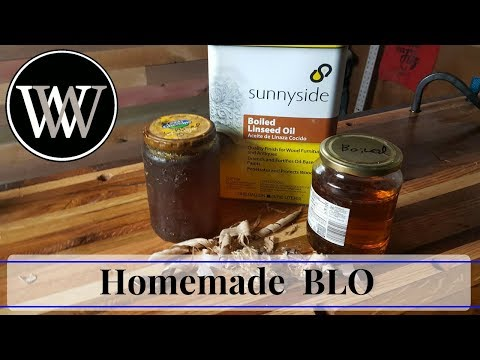 How to Make Boiled Linseed Oil I Making Homemade Woodworking BLO Finish