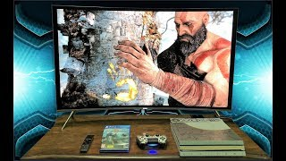 Unboxing Samsung 4k Curved LED TV 49 inch With God Of War 4 PS4 PRO Gameplay Full HD