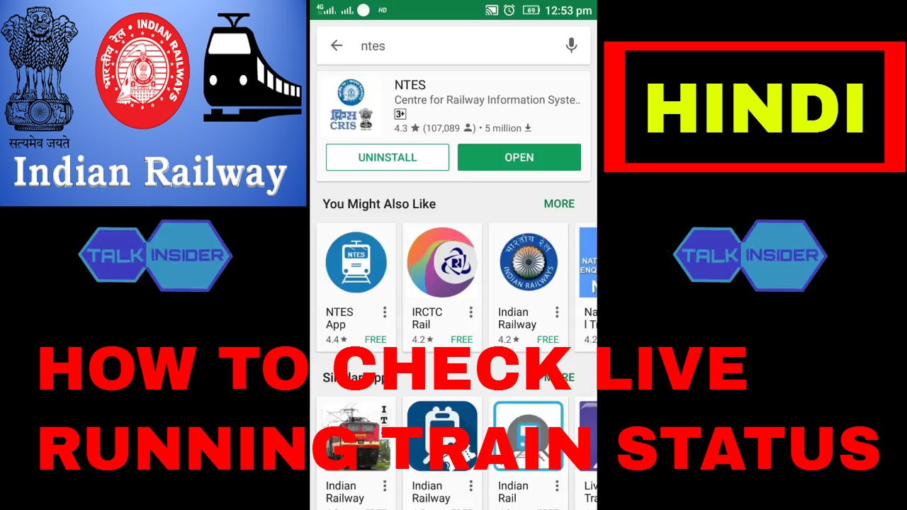 How to check irctc train enquiry live running status timetable hindi also rh youtube