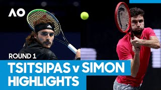 Stefanos Tsitsipas vs Gilles Simon Match Highlights (1R) | Australian Open 2021