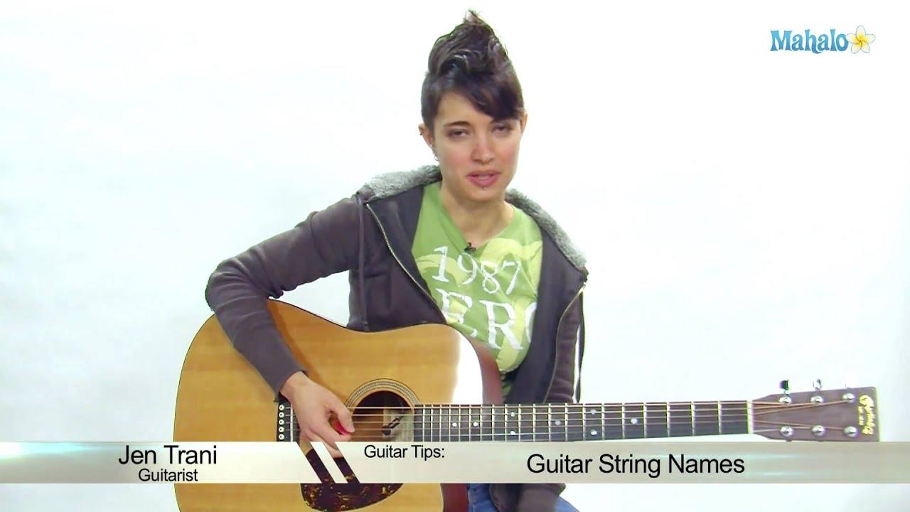 guitar string names youtube. Black Bedroom Furniture Sets. Home Design Ideas