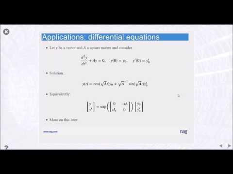 The Role of Matrix Functions Webinar