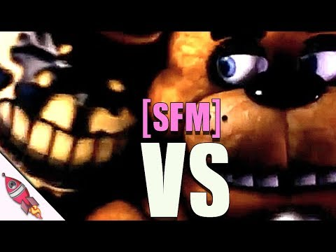 [SFM] Five Nights at Freddy's vs Bendy and the Ink Machine Rap Battle Part 3 | Rockit Gaming