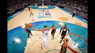 Giannis Antetokounmpo Finishes Unreal Dunk Off Feed From Steph Curry in 2019 All Star Game