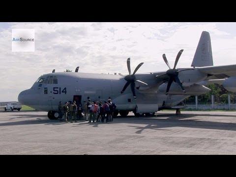 Typhoon Haiyan/Yolanda - U.S. Marines Humanitarian Assistance/Disaster Relief. C-130, Tacloban.