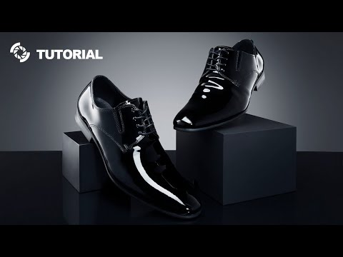 Glossy black leather shoes photography tutorial thumbnail