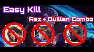 《ahq Rush 》Quillen Jungle!! Easy Combo with Raz