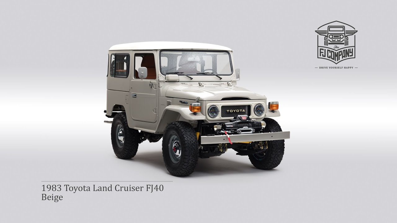 1983 toyota land cruiser fj40 beige youtube rh youtube com