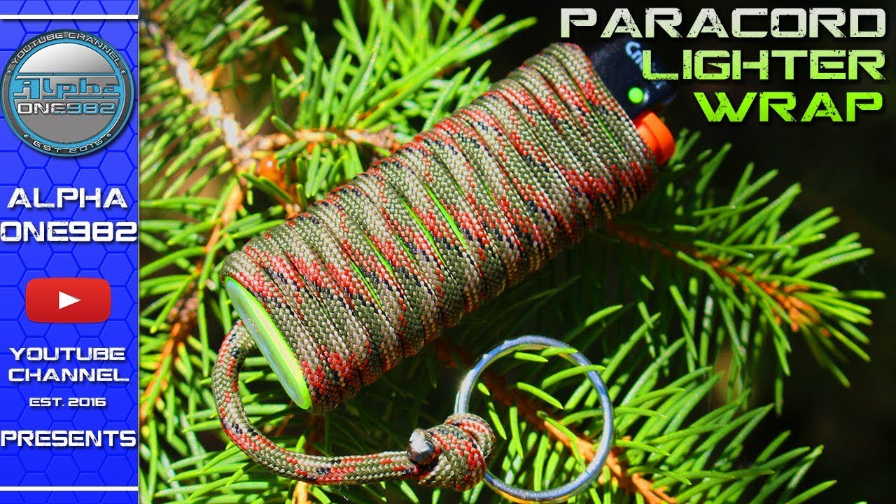 How to make paracord lighter holder fast and easy wrap for Paracord lighter holder