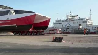 Allelys Group - Catamaran Ferry SPMT Load-Out