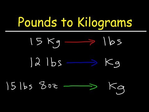 How To Convert From Pounds To Kilograms And Kilograms To Pounds