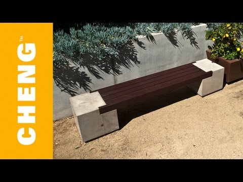 Make a Concrete and Wood Bench with CHENG Outdoor Concrete Mix and 2x4's