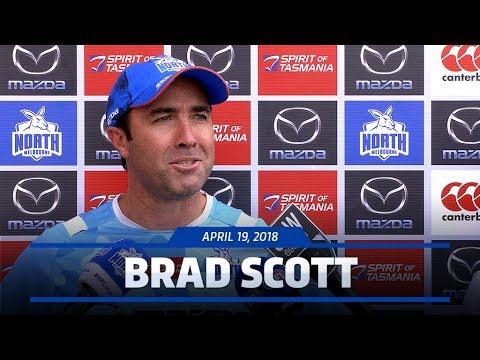 Brad Scott media conference (April 19, 2018)
