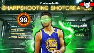 RAREST 99 OVERALL BUILD BREAKS NBA 2K20 - SHARPSHOOTING STEPHEN CURRY BUILD!