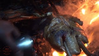 Готовим на костре. Дикая утка /  Cooking on a stick over open fire. Wild duck