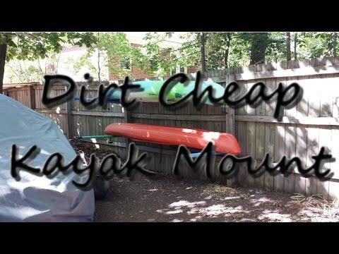 Dirt Cheap DIY Dual Kayak Wall Rack/Mount/Cradle - Free to Me, $10.50 to You
