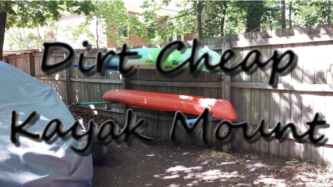 Dirt Cheap DIY Dual Kayak Wall Rack/Mount/Cradle - Free to ...