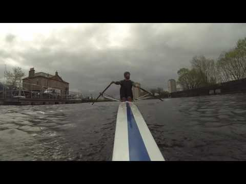 Sculling on the Forth & Clyde Canal
