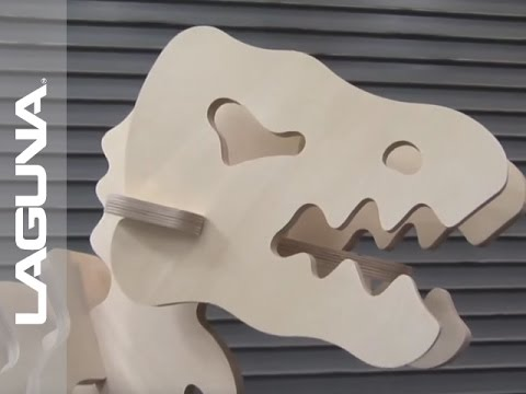 Dinosaur Cut-Out on SmartShop® III CNC Router with Fanuc Controller by LAGUNA