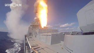 Минобороны опубликовало видео ударов крылатыми ракетами по позициям боевиков в Сирии