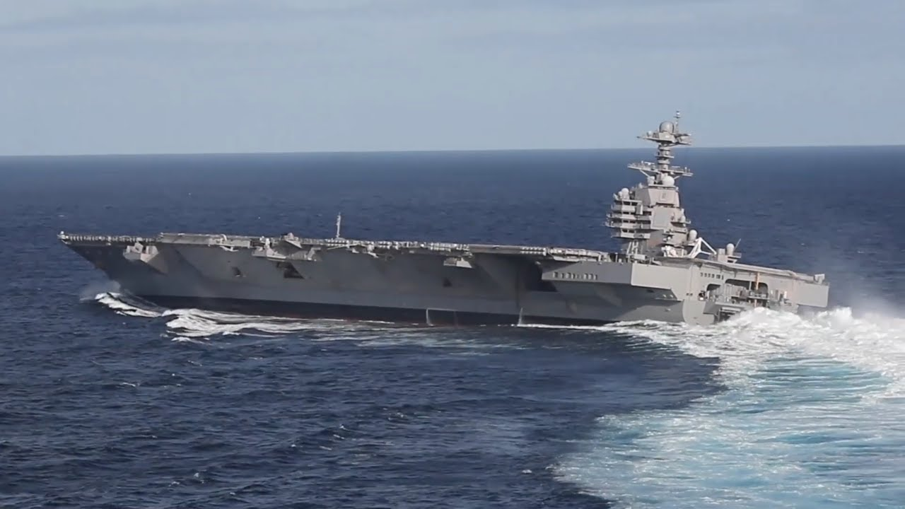 US Navy : USS Gerald R. Ford Begins Sea Trials