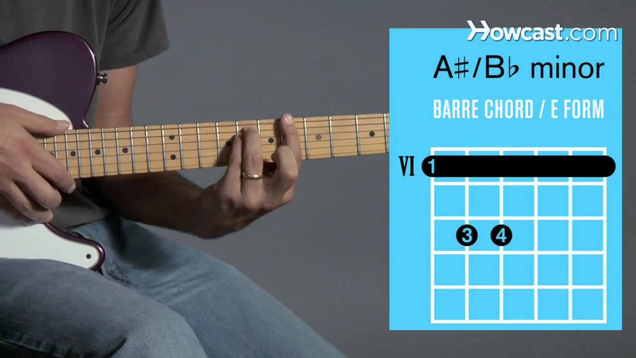 How to play b a minor barre chord guitar lessons youtube how to play b a minor barre chord guitar lessons hexwebz Images