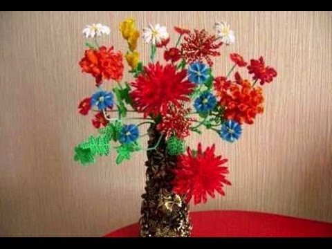 Как сделать искусственные цветы. Красивая идея