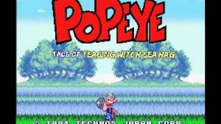 SNES Longplay [128] Popeye: Ijiwaru Majo Seahag no Maki (Part 1 of 2)