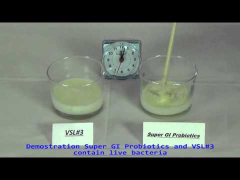 Super GI Probiotic compaired to VSL#3 Demo Live Bacteria 3 min