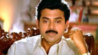 Suryavamsam Scene - Gowri Came To Bhanu Prasad House For Asking Job - Venkatesh, Raadhika, Meena