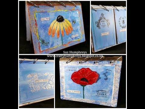 Mixed media Tutorial. How to decorate an A5 desk planner, notebook, memory book or journal. thumbnail