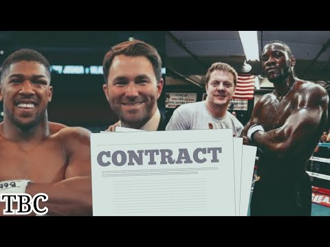 Eddie Hearn has sent Deontay Wilder a contract to face Anthony Joshua!!!