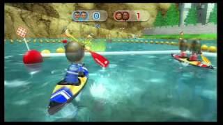 Wii Sports Resort Canoeing gameplay