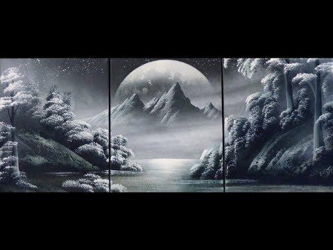 Spray paint art – Mountains – made by street artist