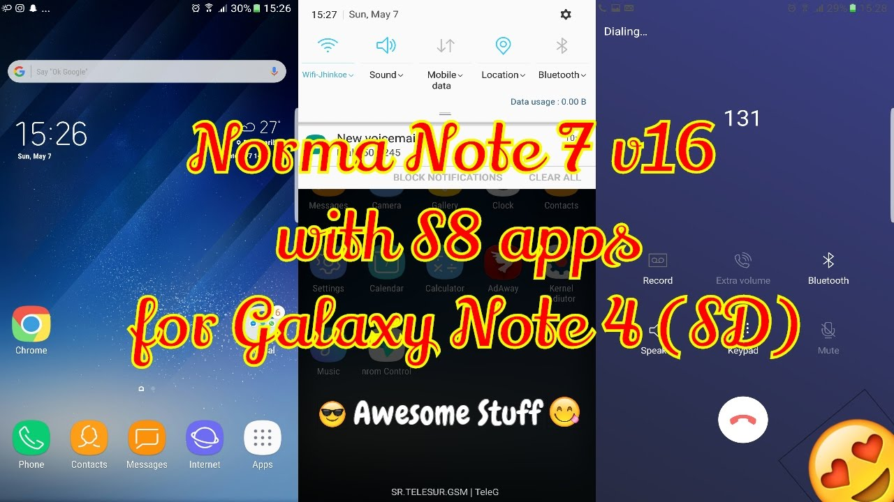 Norma Note 7 Rom v16 with S8 apps for Galaxy Note 4 N910/F/G/V/P/T  #Note4Roms