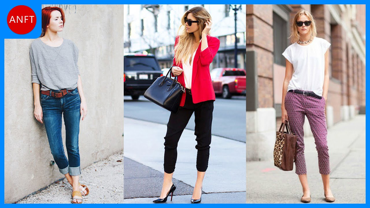 What can be worn with Capri pants?