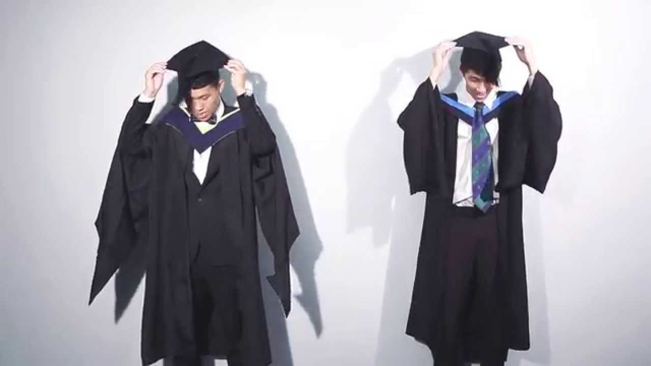 Academic Dress for Graduation (Gentlemen Version) - YouTube