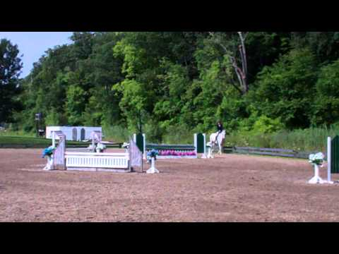 Debonaire & Sarah Simmons - Second 18-35 Adult Amateur Hunter - HITS Saugerties - August 2, 2014