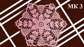 Салфетка крючком МК 3=8 ряд   How to crochet doily - DIY