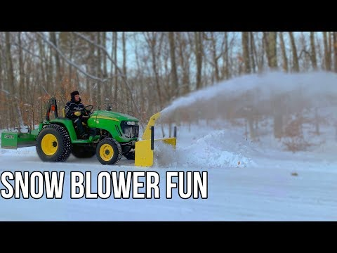John Deere Tractor With Snow Blower | Two Stage Snow Blower