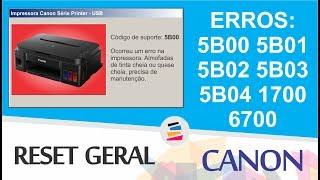 Tutorial - Reset Geral Impressoras Canon Erros: 5B00 5B01 5B02 5B03 5B04 1700 6700 - SULINK