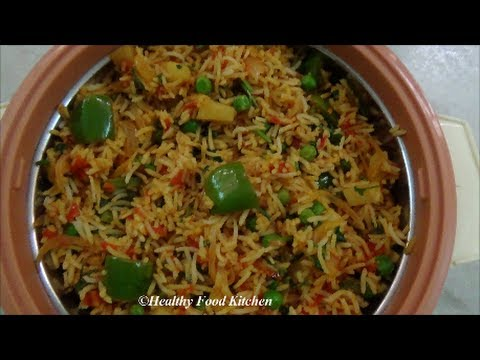 Spicy Vegetable Pulao  Variety Rice Recipe By Healthy