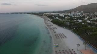 alcudia beach drone