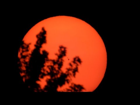 Orange Sun in Ohio - A First For Me
