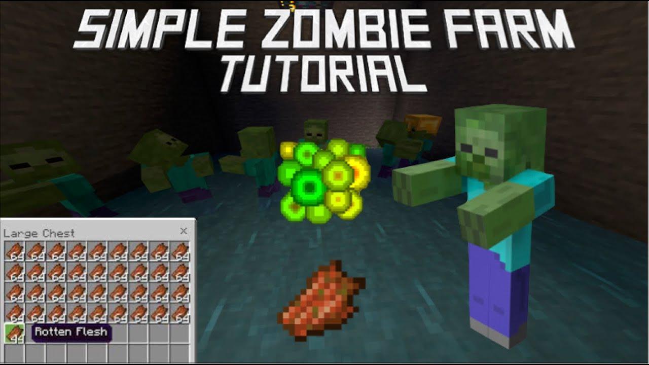 Minecraft Bedrock Edition - Zombie XP Farm Tutorial - Super Easy