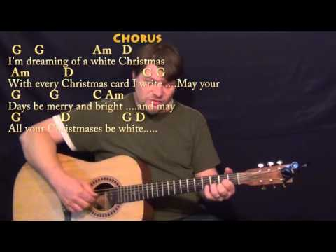 White Christmas - Fingerstyle Guitar Cover Lesson in G with Chords/Lyrics