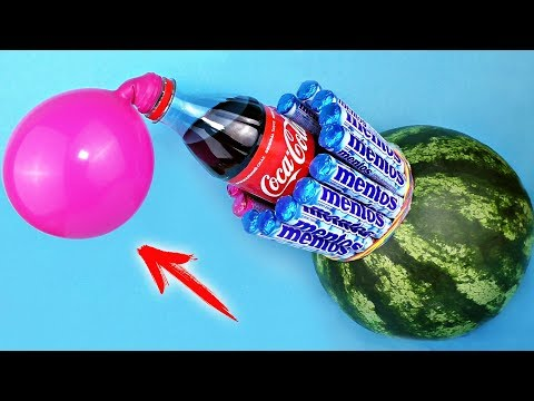 12 SIMPLE LIFE HACKS WITH WATERMELON AND COCA COLA!