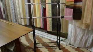 видео Вешалка штанга для одежды напольная, купить напольные вешала штанги