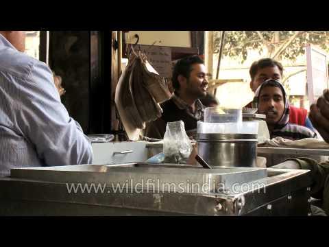 Samosas at Chandni Chowk eatery in old Delhi, India